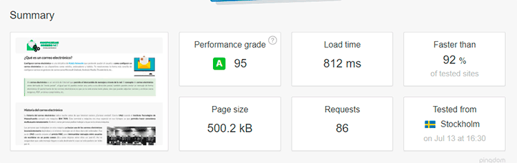 Time to first byte pingdom tools